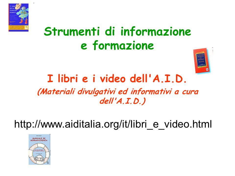 Strumenti di informazione e formazione