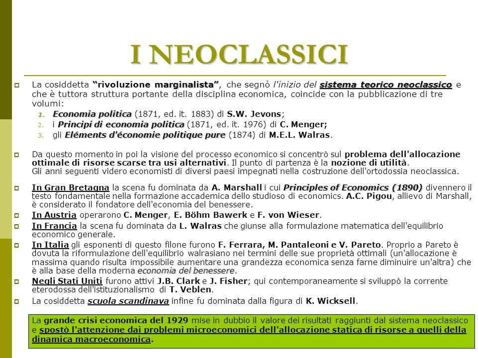 I NEOCLASSICI