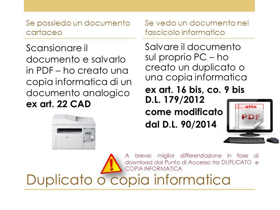 Duplicato o copia informatica