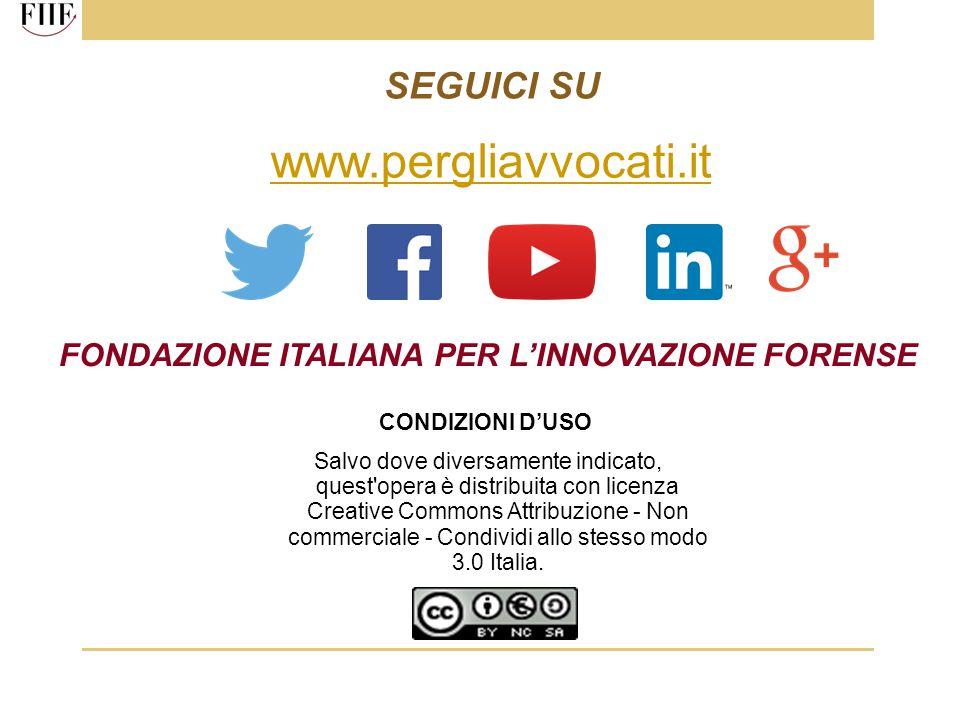 www.pergliavvocati.it SEGUICI SU