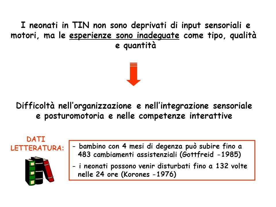 I neonati in TIN non sono deprivati di input sensoriali e