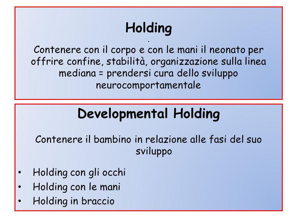 Developmental Holding