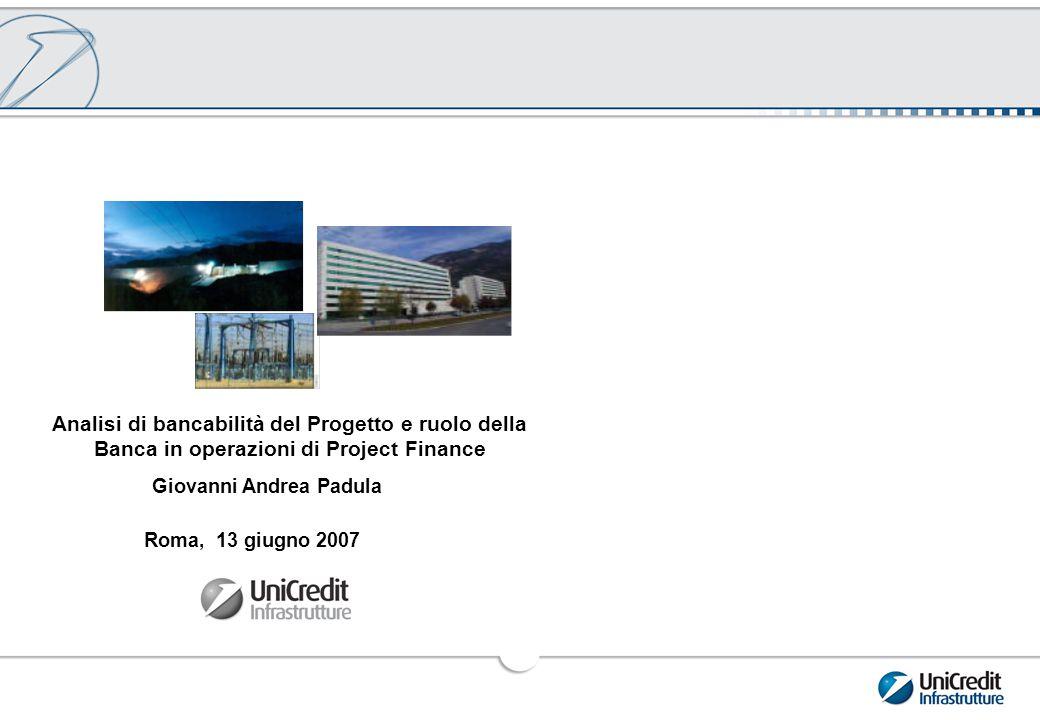 Analisi di bancabilità del Progetto: la Struttura dell'Operazione