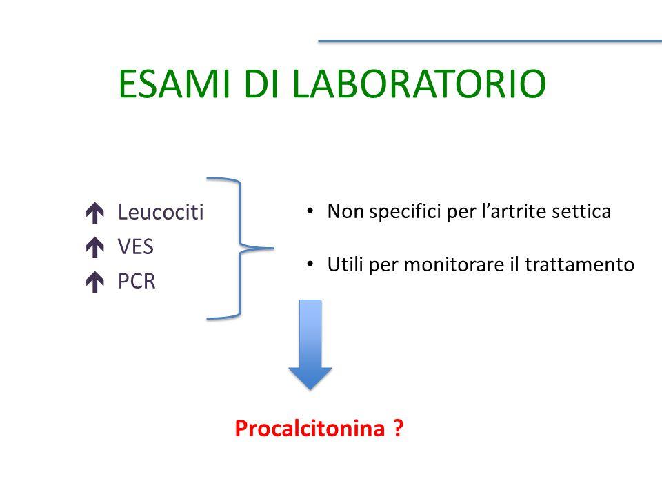 ESAMI DI LABORATORIO Procalcitonina Leucociti VES PCR