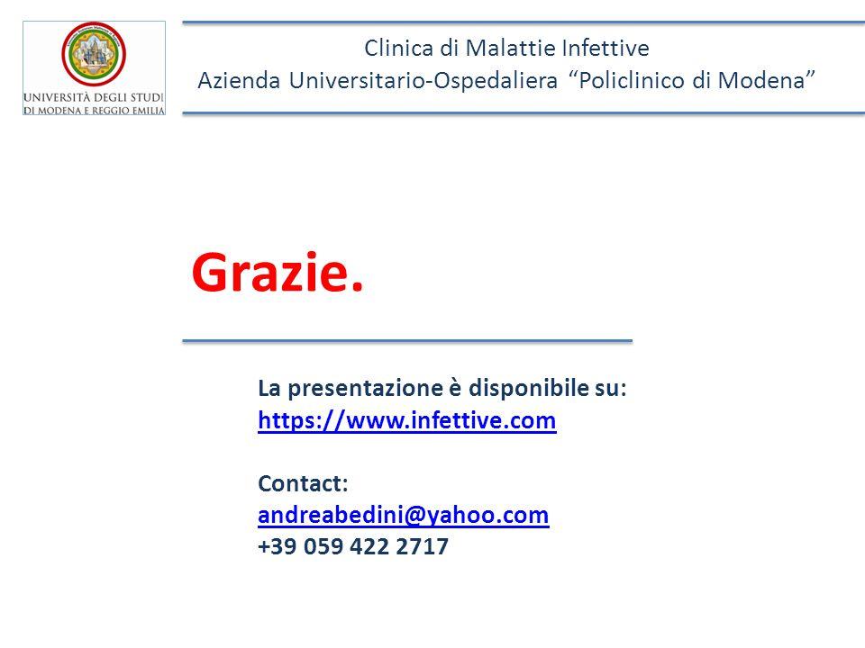 Grazie. Clinica di Malattie Infettive