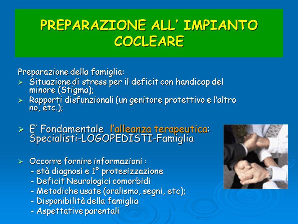PREPARAZIONE ALL' IMPIANTO COCLEARE