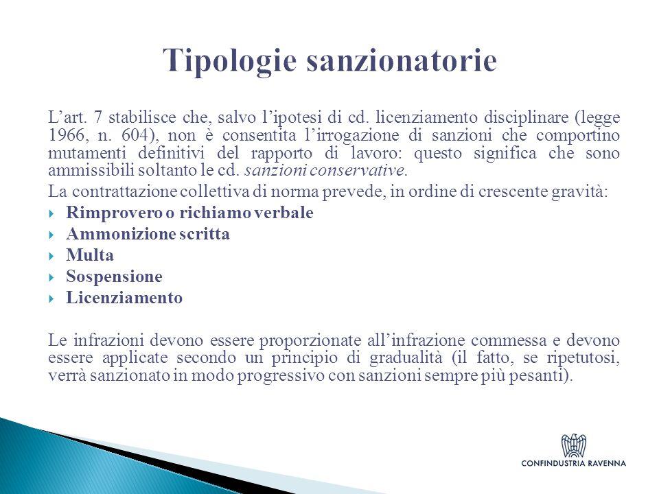 Tipologie sanzionatorie