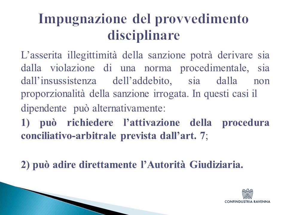 Impugnazione del provvedimento disciplinare
