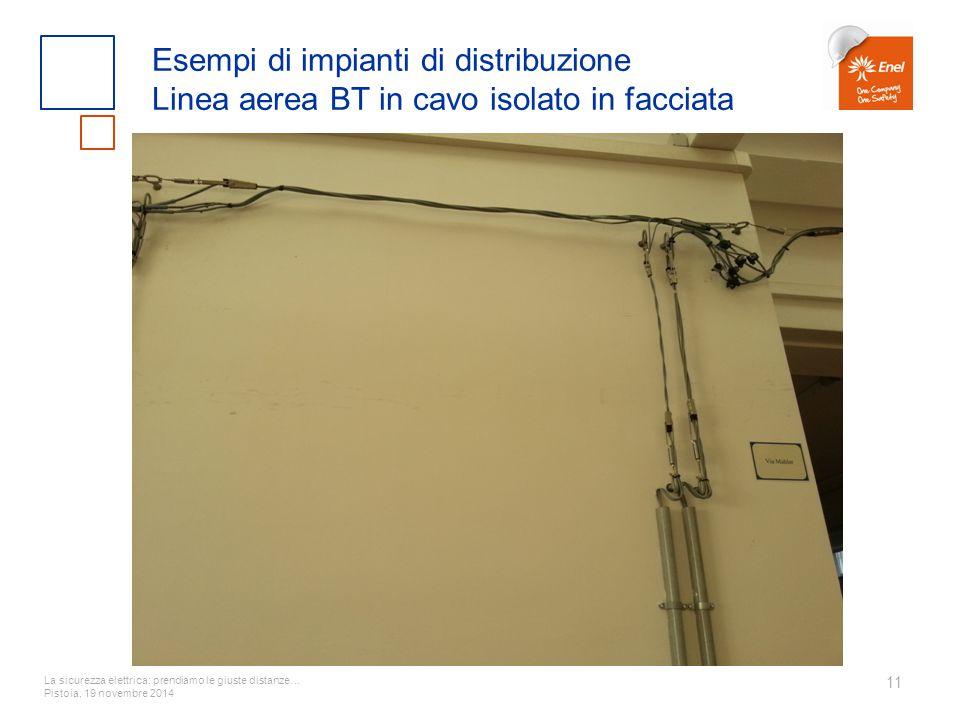 Esempi di impianti di distribuzione Linea aerea BT in cavo isolato in facciata