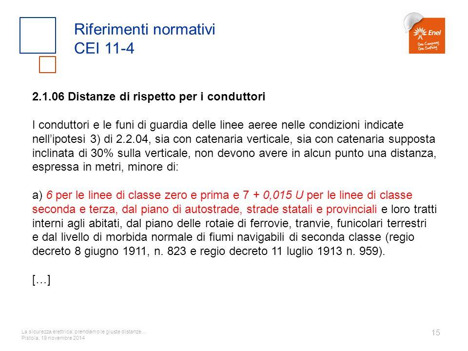 Riferimenti normativi CEI 11-4