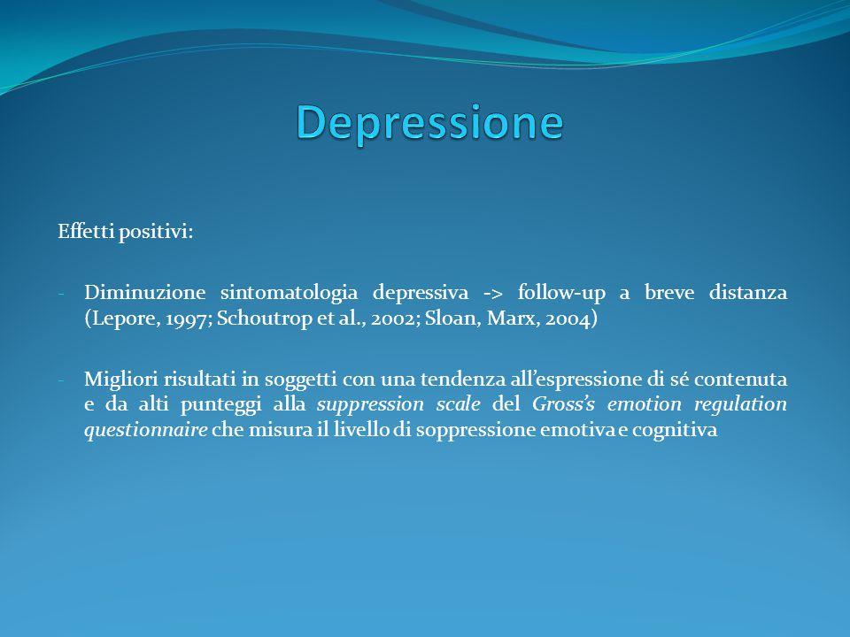 Depressione Effetti positivi:
