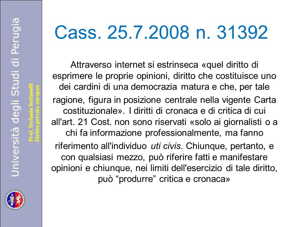 Cass. 25.7.2008 n. 31392