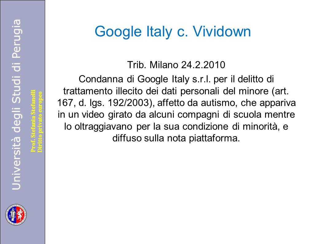 Google Italy c. Vividown