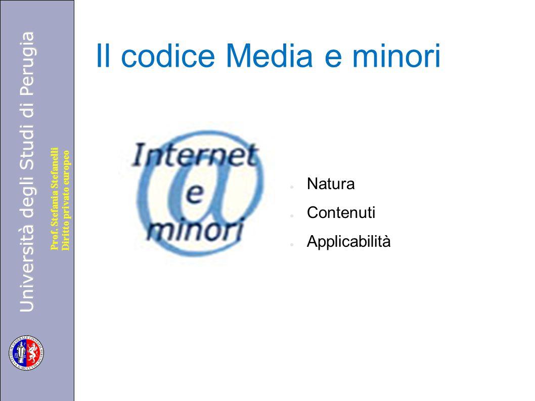 Il codice Media e minori