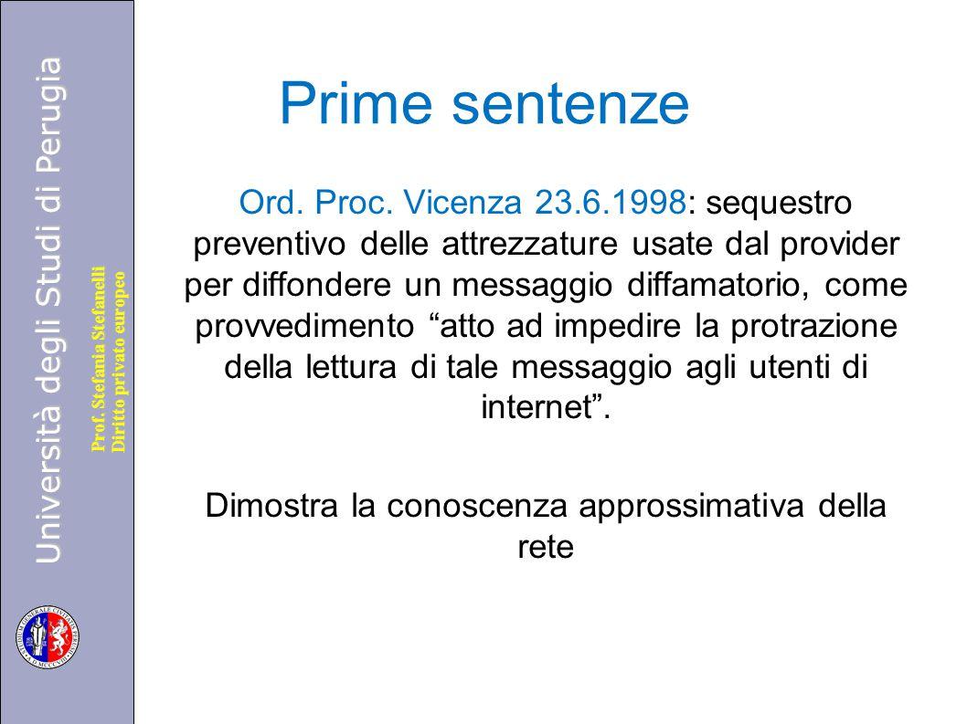 Prime sentenze
