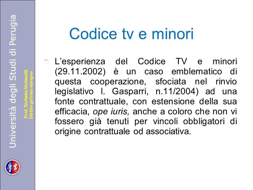 Codice tv e minori