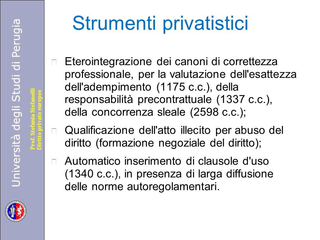 Strumenti privatistici