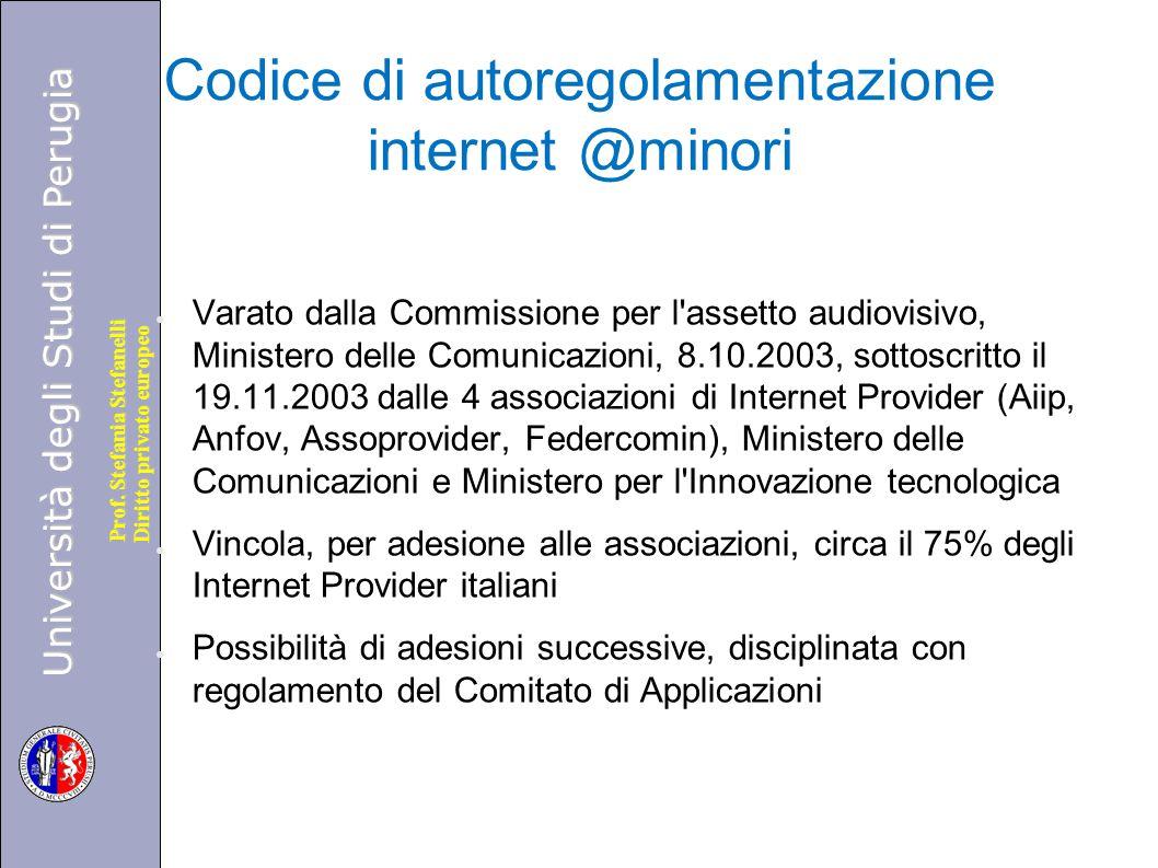Codice di autoregolamentazione internet @minori