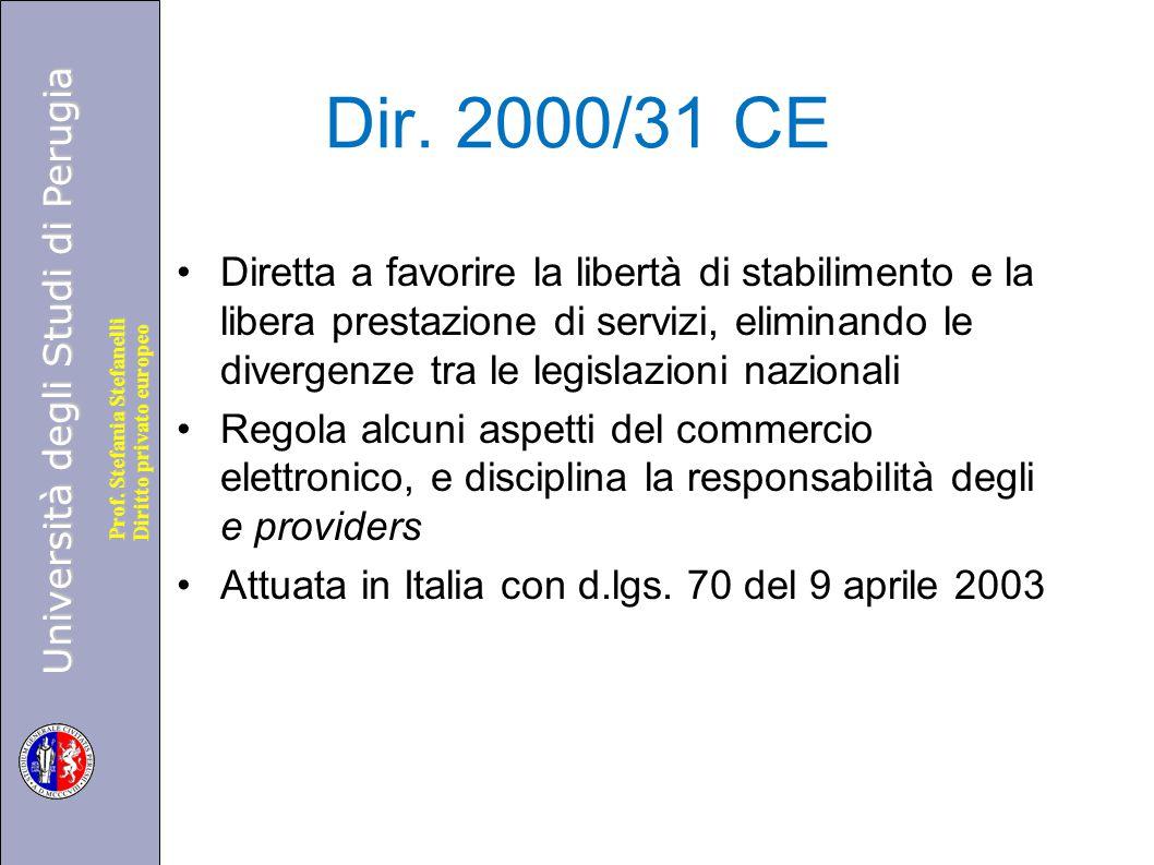 Dir. 2000/31 CE