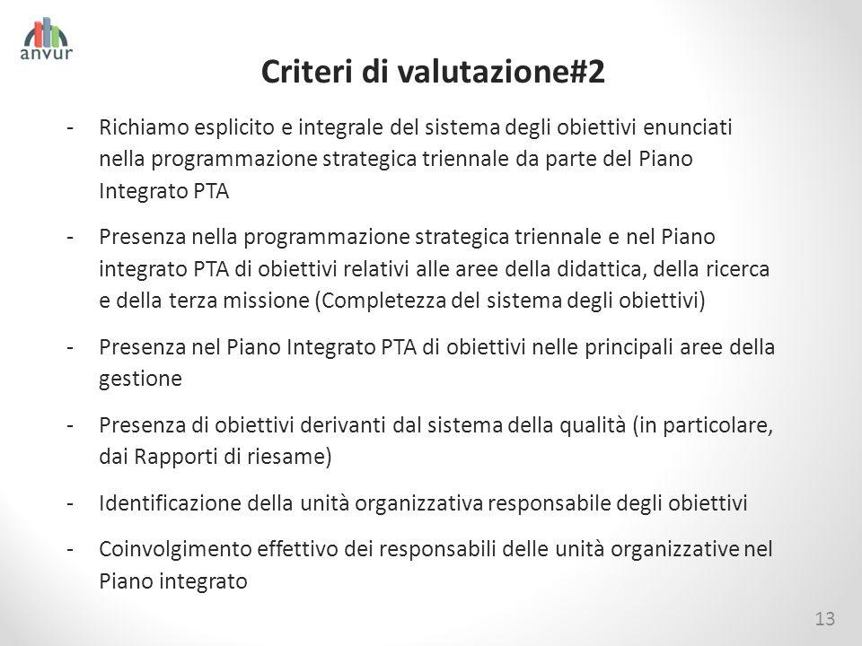 Criteri di valutazione#2