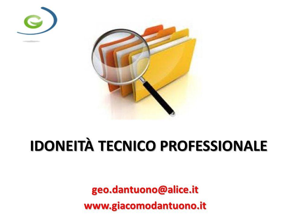 IDONEITÀ TECNICO PROFESSIONALE