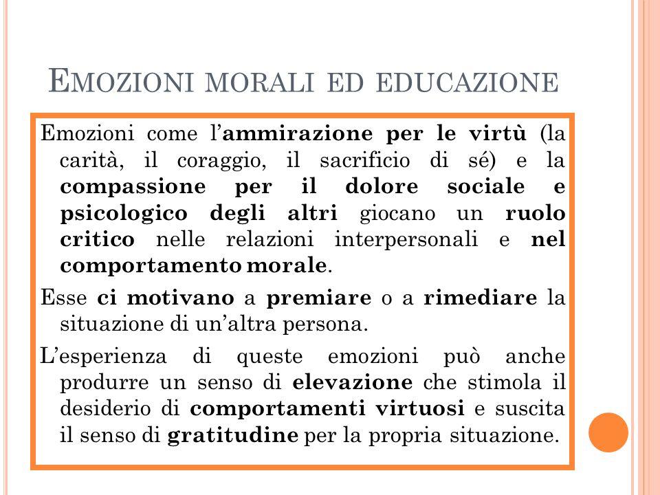 Emozioni morali ed educazione