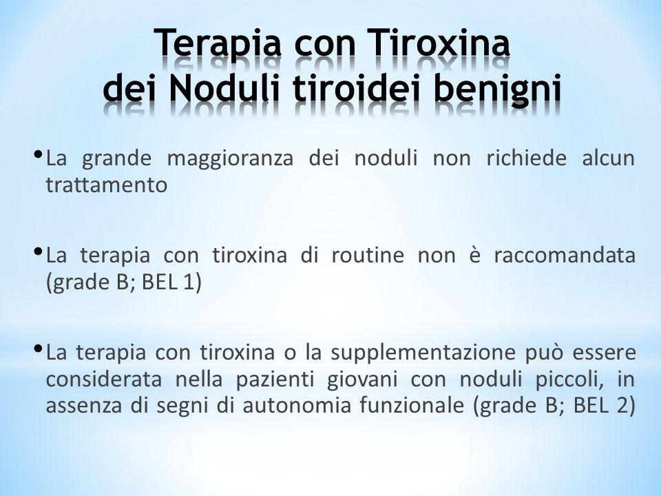 Terapia con Tiroxina dei Noduli tiroidei benigni