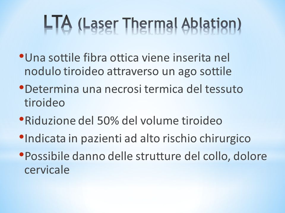 LTA (Laser Thermal Ablation)