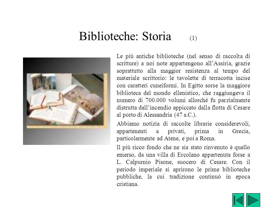 Biblioteche: Storia (1)