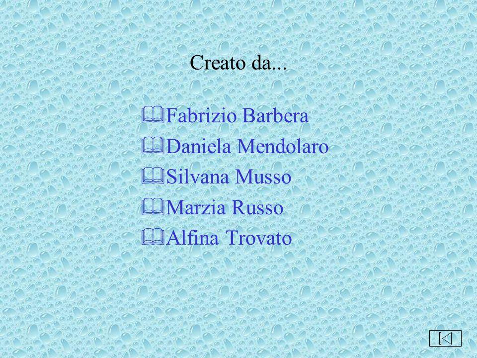 Creato da... Fabrizio Barbera Daniela Mendolaro Silvana Musso Marzia Russo Alfina Trovato