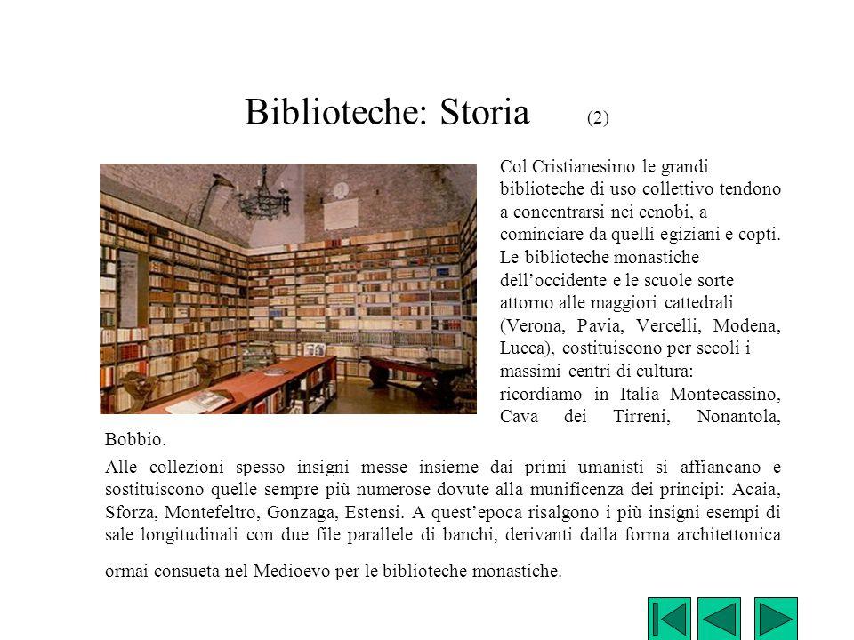 Biblioteche: Storia (2)