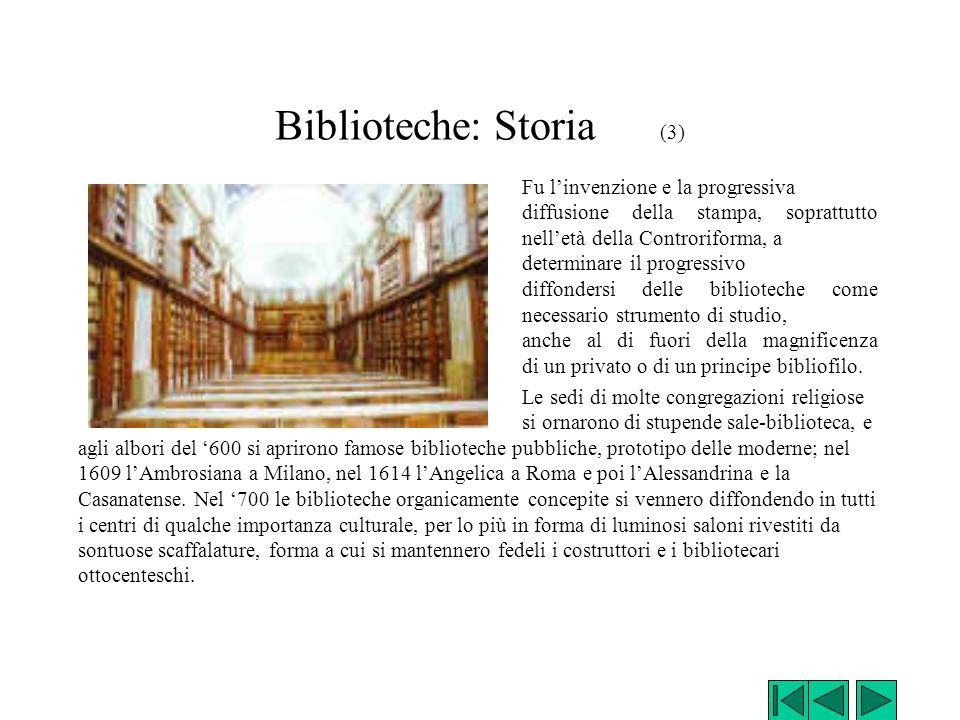 Biblioteche: Storia (3)