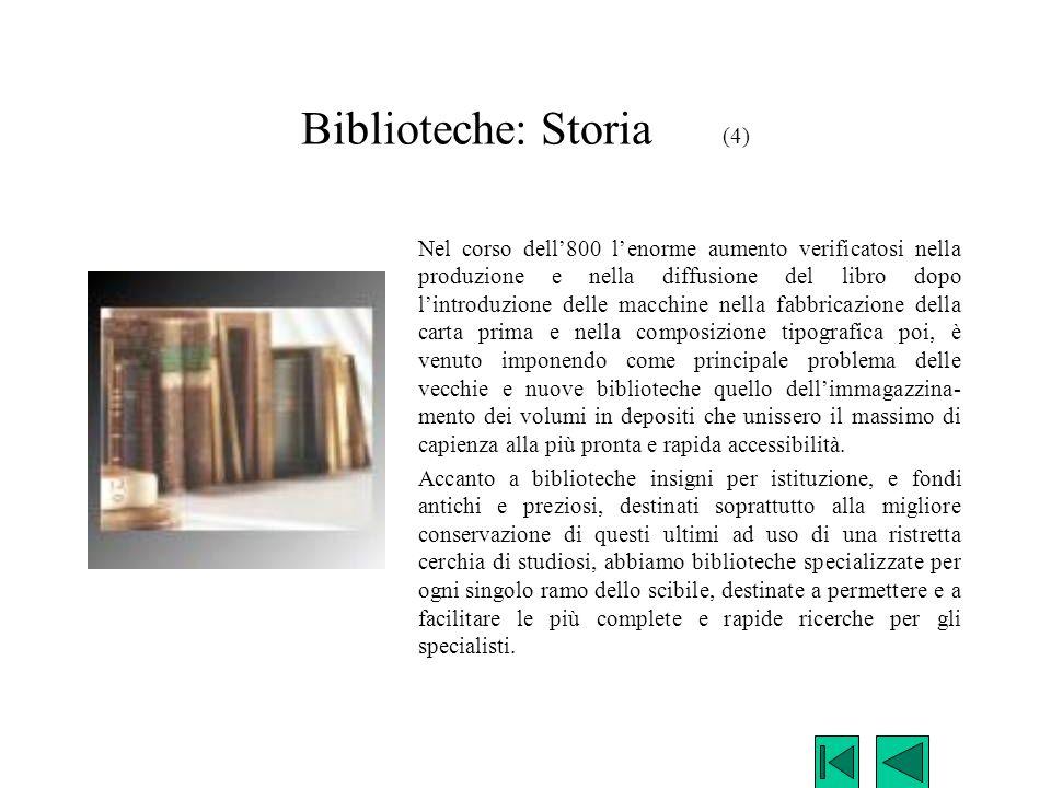 Biblioteche: Storia (4)