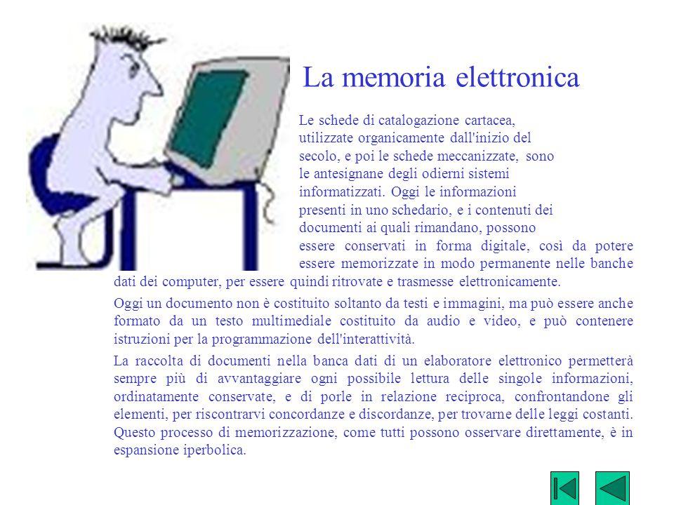 La memoria elettronica