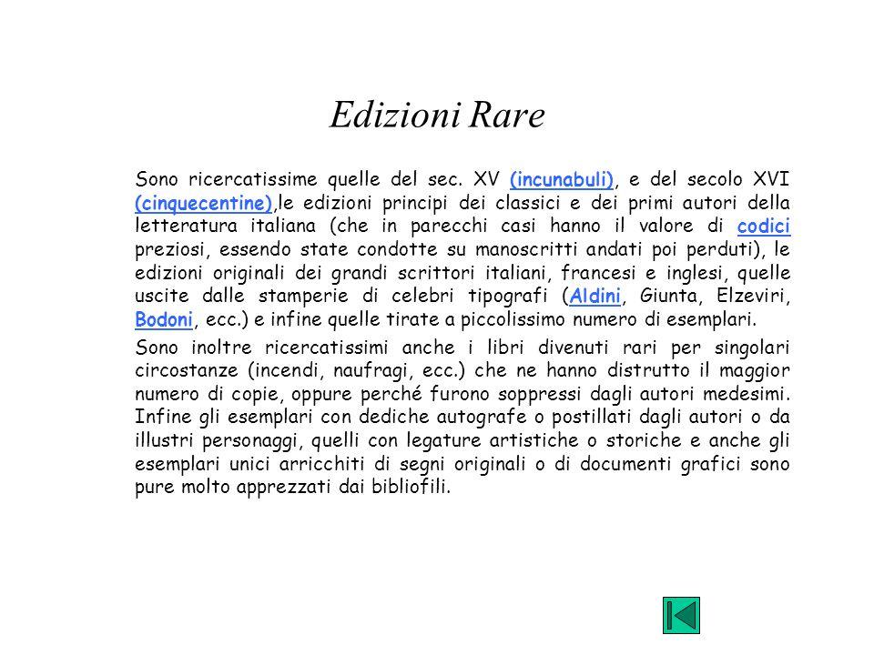 Edizioni Rare