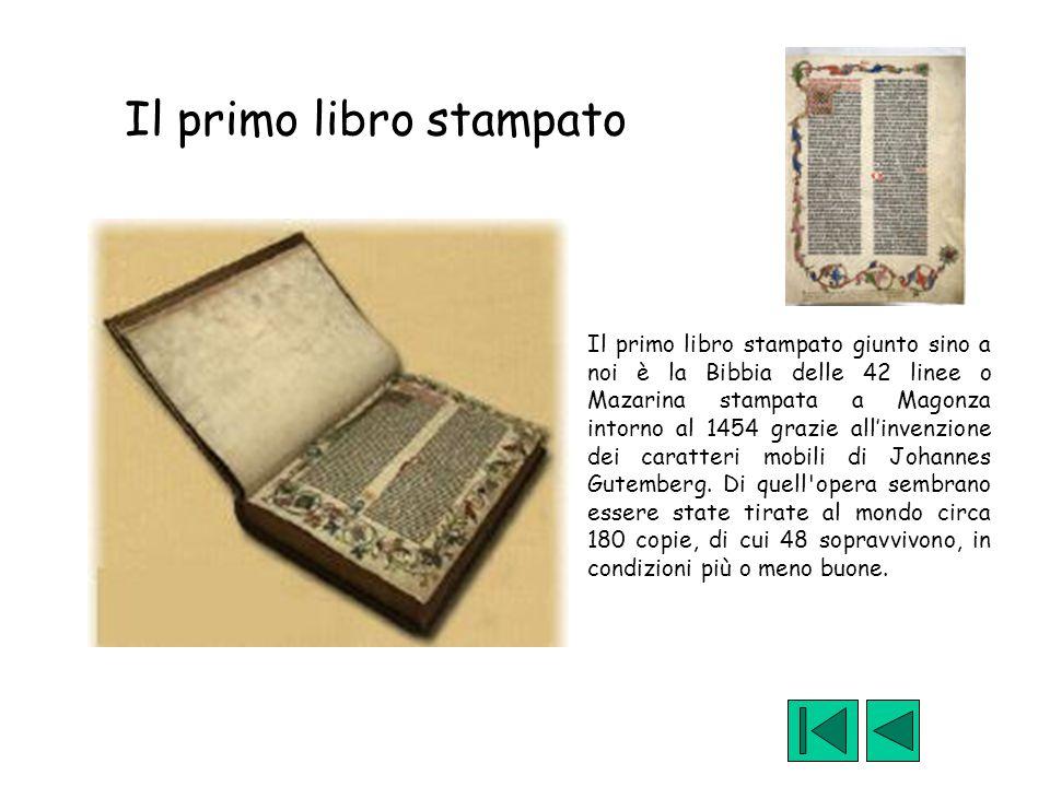 Il primo libro stampato