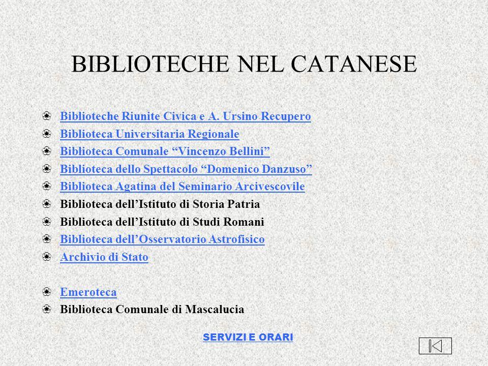 BIBLIOTECHE NEL CATANESE