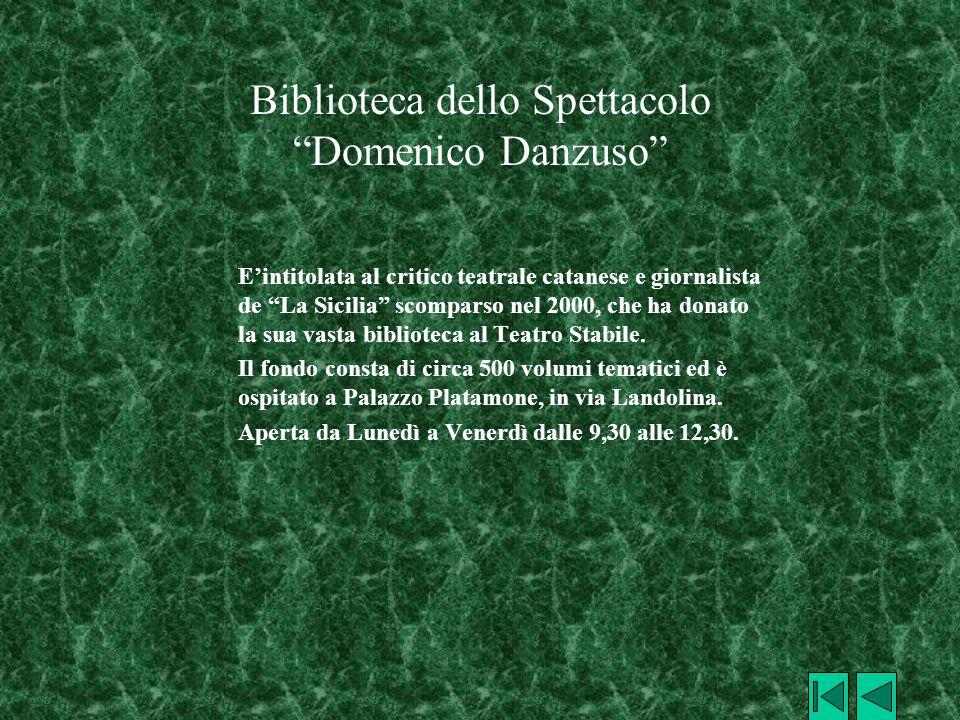 Biblioteca dello Spettacolo Domenico Danzuso