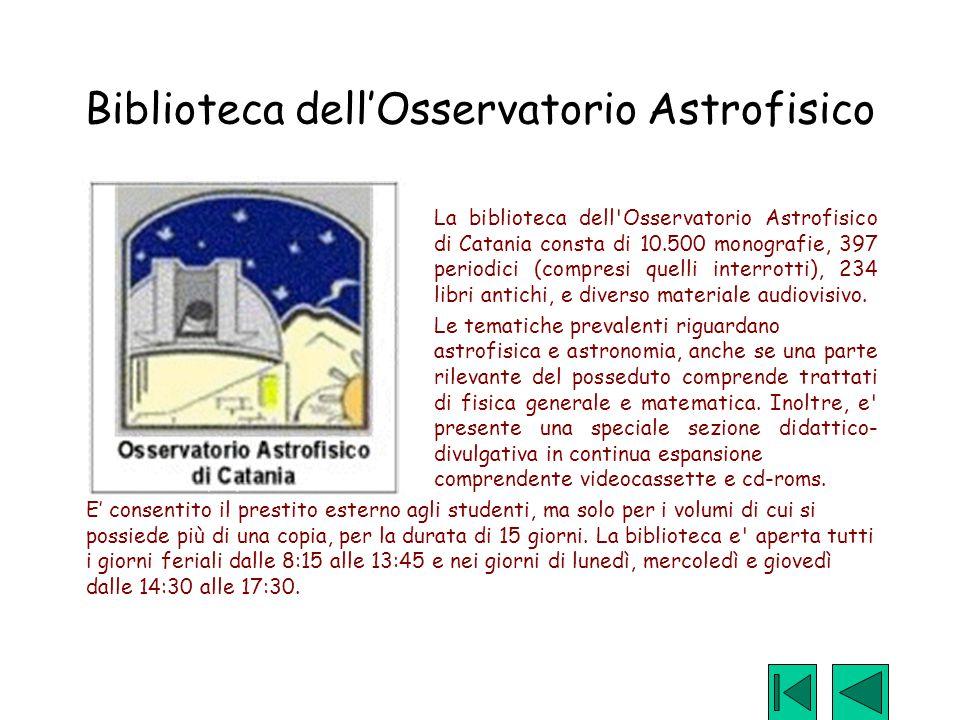 Biblioteca dell'Osservatorio Astrofisico