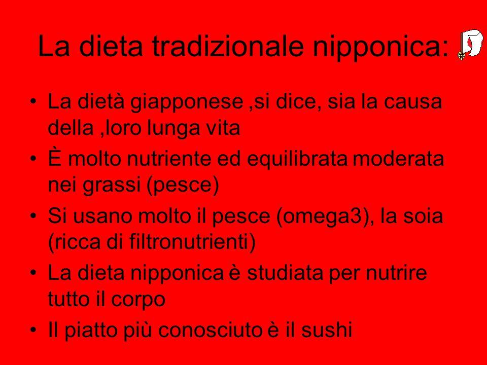 La dieta tradizionale nipponica: