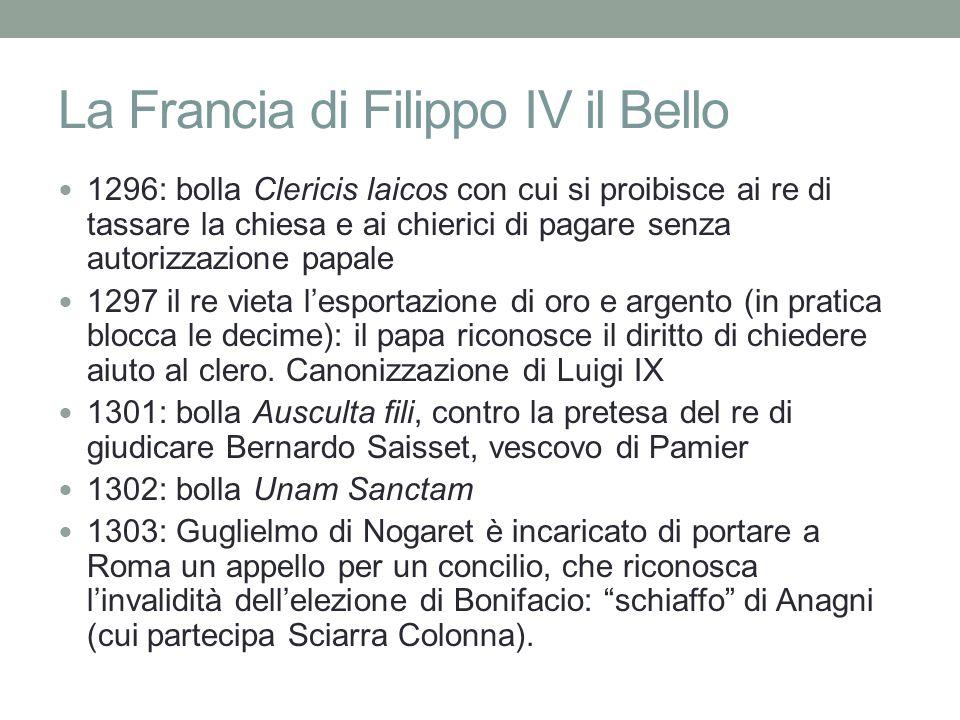 La Francia di Filippo IV il Bello