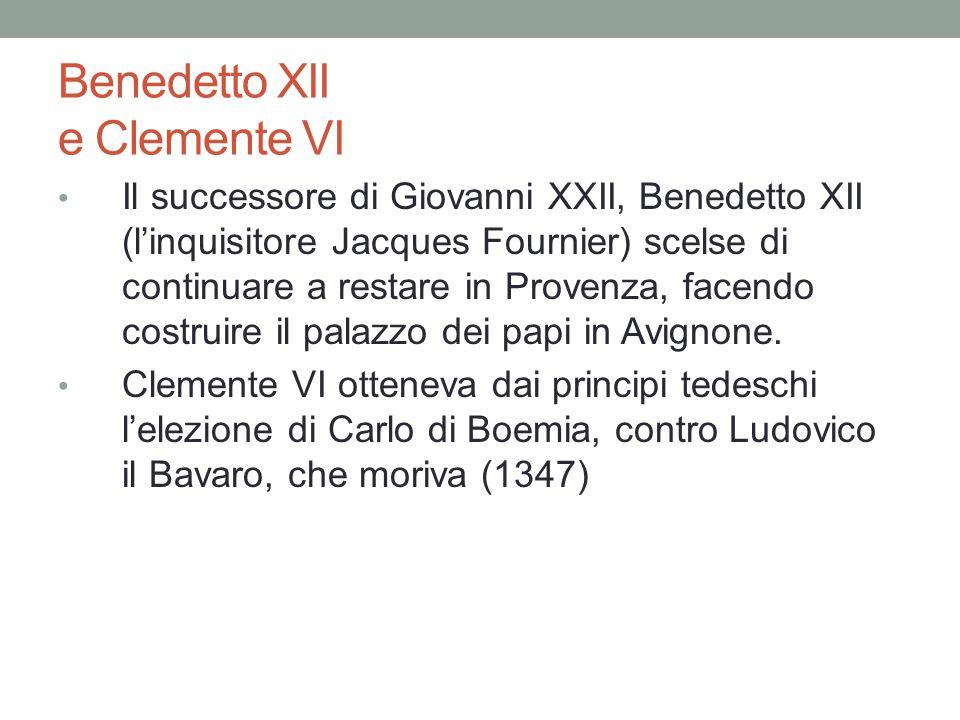Benedetto XII e Clemente VI