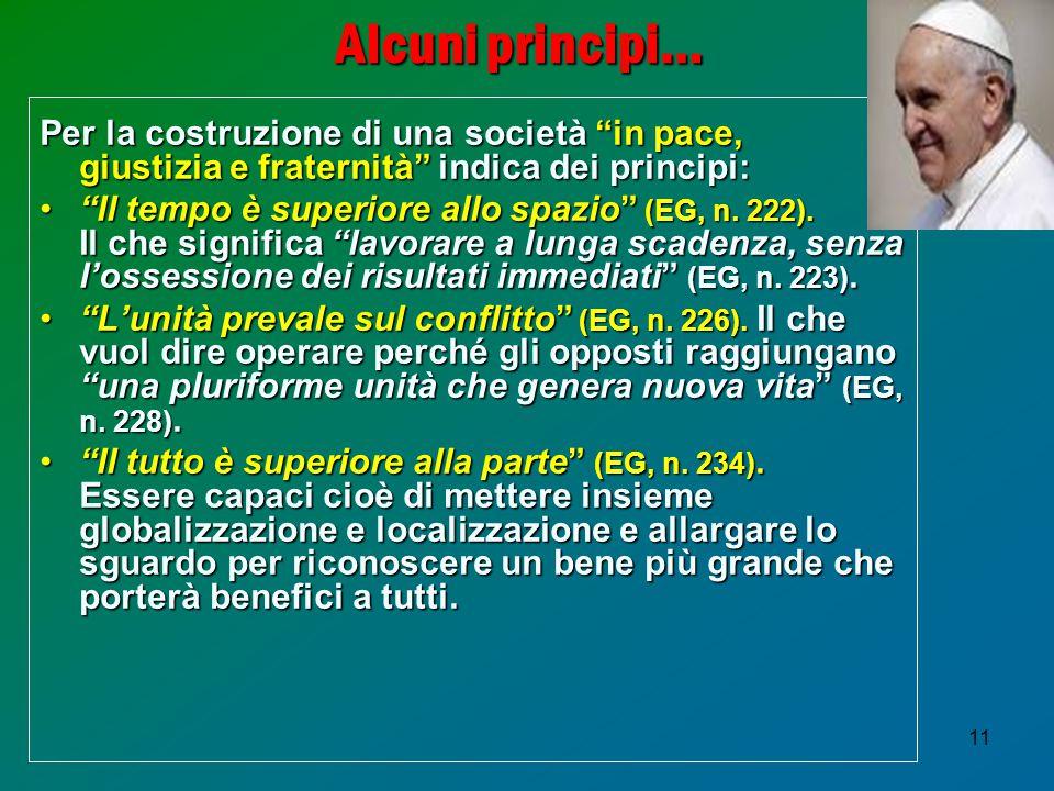 Alcuni principi… Per la costruzione di una società in pace,