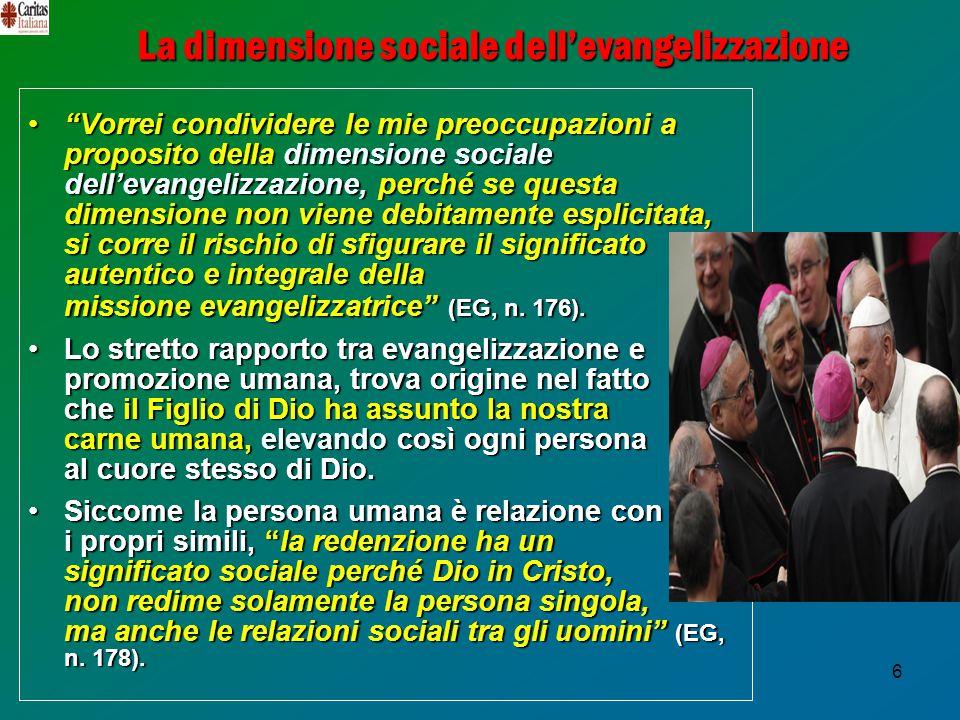 La dimensione sociale dell'evangelizzazione