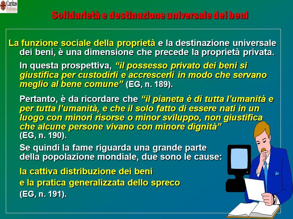 Solidarietà e destinazione universale dei beni