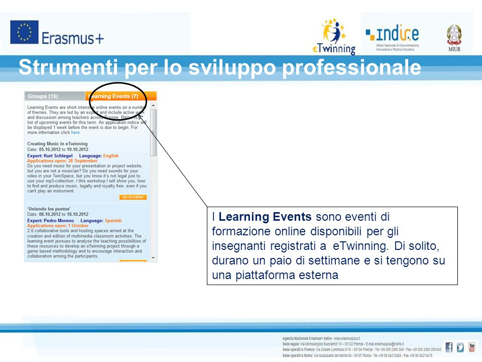 Strumenti per lo sviluppo professionale