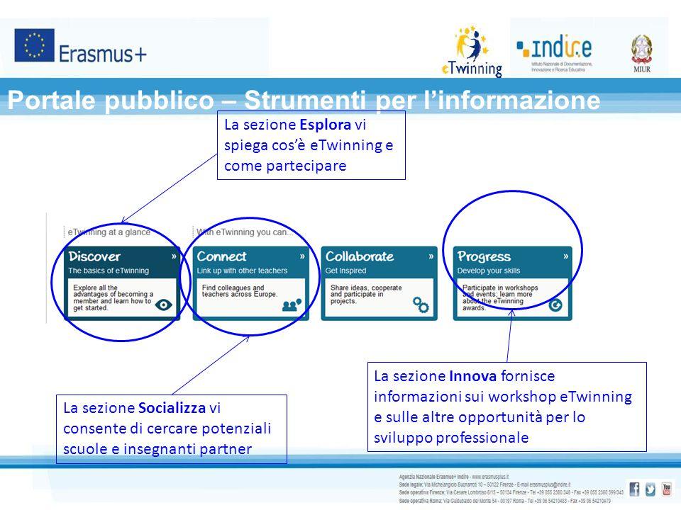 Portale pubblico – Strumenti per l'informazione