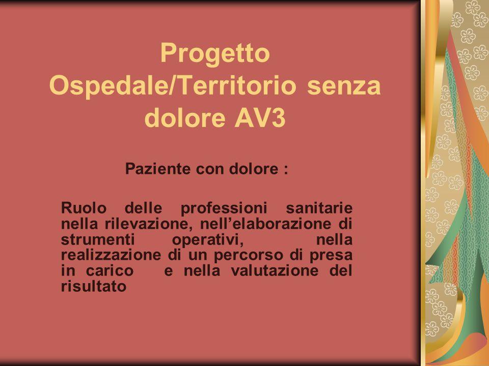 Progetto Ospedale/Territorio senza dolore AV3