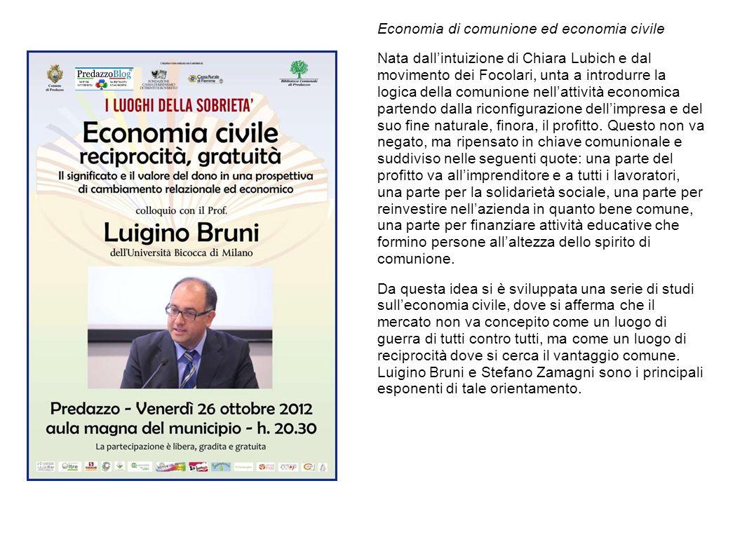Economia di comunione ed economia civile