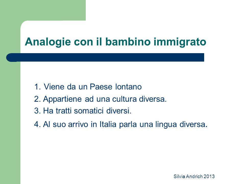 Analogie con il bambino immigrato